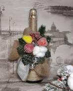 Оформление новогоднего шампанского. Под заказ