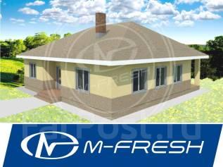 M-fresh Trali-Vali (В готовом проекте дома расчет строй материалов). 100-200 кв. м., 1 этаж, 4 комнаты, бетон