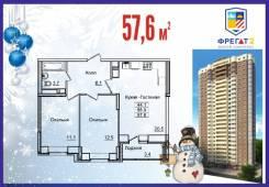 2-комнатная, улица Нейбута 17 кор. 3. 64, 71 микрорайоны, застройщик, 58кв.м.