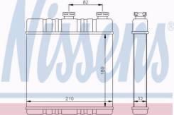 Теплообменник отопление салона Nissens 72660 Opel: 1618142 9117283. Vauxhall: 1618142 9117283 Chevrolet Astra Наклонная Задняя Часть. Chevrolet Astra...