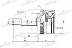 Шарнирный комплект приводной вал Patron PCV3036 Hyundai / Kia (Mobis): 49591-1F200 49591-1F210 49500-1F200 49501-1F200 Kia Sportage (Je_ Km_)