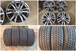 "265/60R18 Bridgestone DM-V2 новая зима с литьем MMC Pajero Япония. 7.5x18"" 6x139.70 ET46 ЦО 67,1мм."