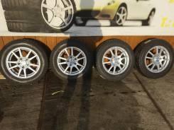 """Комплект литых колес Weds 195/65R-15 с зимней резиной Dunlop 2015г. в. 6.0x15"""" 5x114.30 ET53 ЦО 73,0мм."""