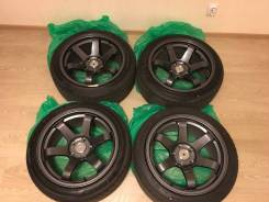 "Диски реплика Volk Racing TE37 9j с резей. 9.0x17"", 5x114.30, ET25"