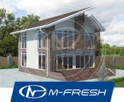 M-fresh Romantika! (Готовый проект романтичного дома для Вас! ). 100-200 кв. м., 2 этажа, 5 комнат, бетон