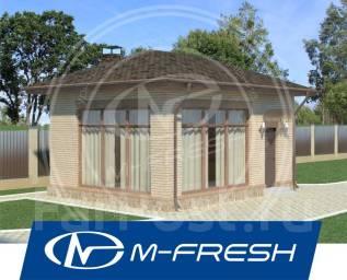 M-fresh Mangal (Готовый проект кирпичной мангальной/ беседки). до 100 кв. м., 1 этаж, 1 комната, кирпич
