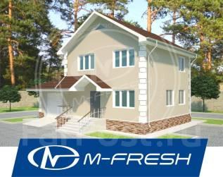 M-fresh Elegance-зеркальный (Проект дома с кровлей из металлочерепицы). 100-200 кв. м., 2 этажа, 4 комнаты, бетон