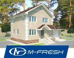 M-fresh Elegance (Проект лаконичного дома с гаражом! ). 100-200 кв. м., 2 этажа, 4 комнаты, бетон