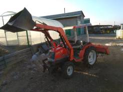 Kubota. Трактор 19 л. с., 4wd, фреза, погрузчик, Реверс , 19 л.с.