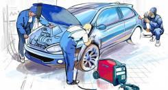 Кузовной ремонт автомобилей, тянем рамы покраска в камере