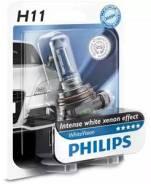 Лампа галогеновая H11 WhiteVision 12V 55W PGJ19-2 B1 Philips 12362WHVB1