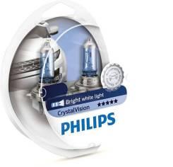 Комплект ламп 12V H11 55W Cristal Vision PGJ19-2 + 2x W5W Philips 12362CVSM