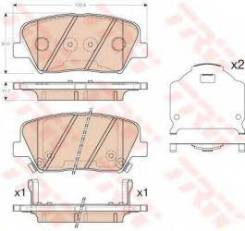 Комплект тормозных колодок дисковый тормоз Trw GDB3549 Beijing Hyundai: 58101C3A20 58101C3A10. Hyundai / Kia (Mobis): 58101A6A00 58101A6A01