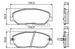 Комплект тормозных колодок диско Bosch 0986494227 Hyundai / Kia (Mobis): 581012BA10 581012JA11 581012PA70 581012WA70 581013MA00 581013MA01.