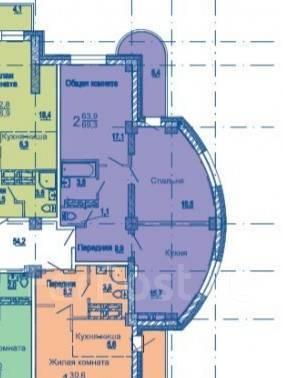 2-комнатная, улица Сабанеева 14в. Баляева, частное лицо, 69кв.м. План квартиры