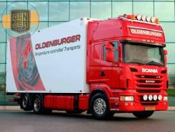 Scania R480. , 2013г, рефрижератор 53 м3, гидроборт, без пробега по РФ, 12 742куб. см., 14 000кг., 6x2. Под заказ
