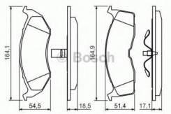 Комплект тормозных колодок диско Bosch 0986424363 Chrysler: 4762682 4773264 4882106 4882107 573071 05011743AA 4728124 5011067AA 05014527AA 05018595AA