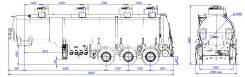 Сеспель SF3330. Полуприцеп-цистерна SF3330 (964846, 30м3, 4 отс. сталь ), 24 700кг.