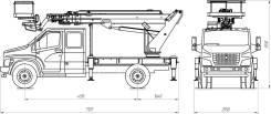 Випо-22. Автогидроподъемник ВИПО-22-01 на шасси ГАЗ-С42R33 NEXT (4х2) кабина 7м, 3 900куб. см., 22,00м.