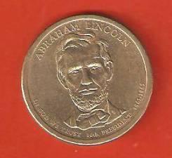 1 доллар 2010 г. США. Авраам Линкольн