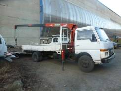Nissan Atlas. Бортовой грузовик с манипулятором, Широкий длинный, Резина R16 в круг., 3 500куб. см., 3 000кг., 4x2