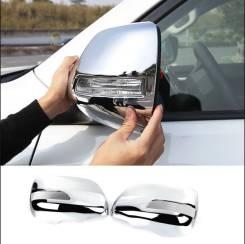 Накладка на зеркало. Toyota Land Cruiser Prado, GDJ150, GDJ150L, GDJ150W, GRJ150, GRJ150L, GRJ150W, KDJ150, KDJ150L, LJ150, TRJ150, TRJ150L, TRJ150W