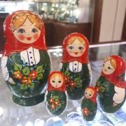 """Матрешка российская 5 кукол / 60*110 мм / Suv-5-178 """"ЮБКА"""""""