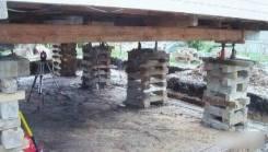Подъем просевших домов, замена и ремонт фундаментов, замена венцов