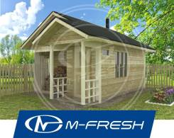 M-fresh Hothouse (Готовый проект маленькой бани для Вас! ). до 100 кв. м., 1 этаж, 1 комната, дерево