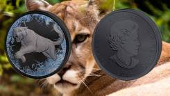 * Канада 5 долларов 2016 Пума * Кугуар * Серия 'Deep Frozen' * Серебро