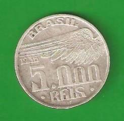 5000 райс 1936 г. Бразилия. 10 гр. серебро.