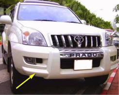 Накладки на бампера. Toyota Land Cruiser Prado