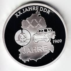 """Германия - ГДР 1969 медаль """"50 лет ГДР"""" Серебро"""