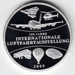 """Германия медаль 2009 """"100 лет авиации"""" Серебро"""