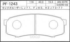 Колодки тормозные дисковые   зад   (np1008) NISSHINBO арт. PF1243