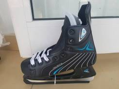 Коньки хоккейные CBB PW-206BL чёрно-голубые, размеры: 36-39;42. 36, 37, 38, 39, 42, хоккейные коньки