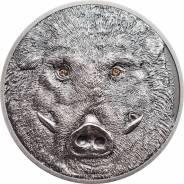Монголия Спецвыпуск к Новому 2019году Огромная монета Кабан = Свинья
