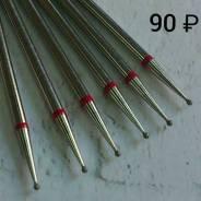 Бор алмазный шаровидный 1 мм (мелкая зернистость)