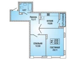 2-комнатная, улица Домбайская 61. Прикубанский, частное лицо, 63кв.м.