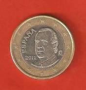 1 евро 2011 г. Испания.