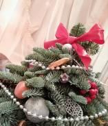 Волшебные ёлочки и венки ручной работы на Новый Год