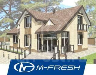 M-fresh Resonance Plus! -зеркальный (Проект дома с витражами! ). 200-300 кв. м., 1 этаж, 5 комнат, бетон