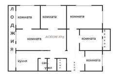Продам или обменяю с доплатой помещение 93 кв. Улица Вилкова 5, р-н Трудовая, 93кв.м. План помещения