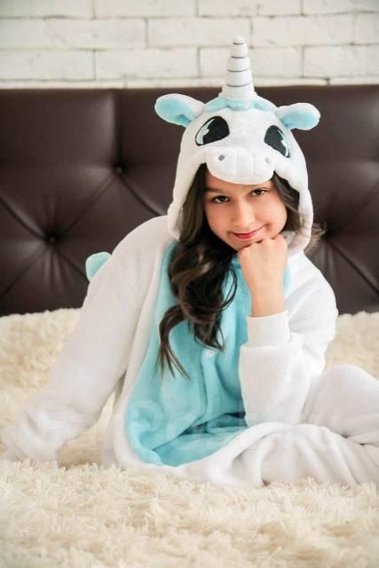 Пижама Кигуруми бело-голубой Единорог - Детская одежда во Владивостоке fb681e477e77d