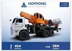 Horyong Sky. Автовышка Horyong SKY 450SF на шасси Камаз 43118, 45,00м. Под заказ