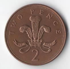 2 пенса 1996г. Великобритания