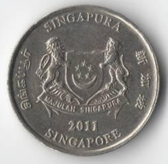 20 центов 2011г. Сингапур