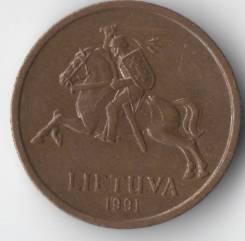 20 центов 1991г. Литва