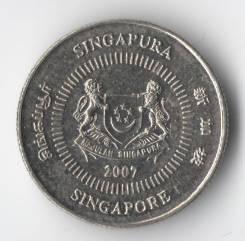 10 центов 2007г. Сингапур