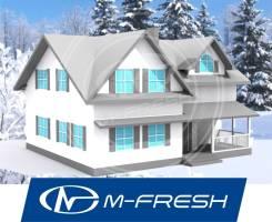 M-fresh Florida (Проект дома из бруса с навесным фасадом! ). 100-200 кв. м., 2 этажа, 7 комнат, дерево